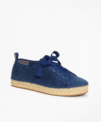 Brooks Brothers Suede Espadrille Sneakers