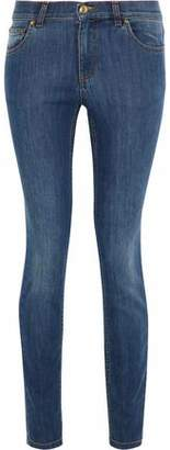 RED Valentino Distressed High-Rise Skinny Jeans