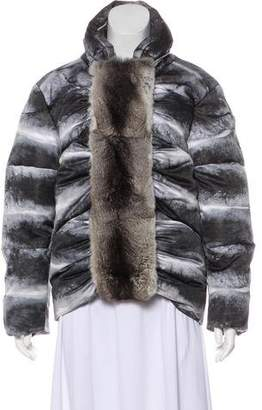 Moncler Gamme Rouge Chinchilla-Trimmed Jacket