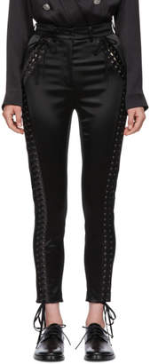 Dolce & Gabbana Black Silk Trousers