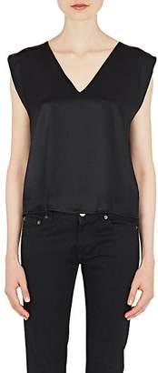 Amiri Women's Open-Back Silk Sleeveless Top - Black