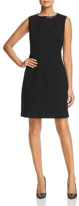 Misook Faux Leather Trimmed Tank Dress