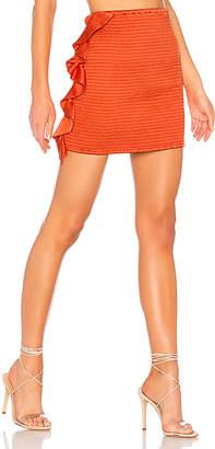 NBD Leo Smocked Mini Skirt