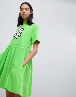 Lazy Oaf Giant Daisy Smock Dress