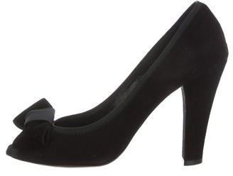 Marc Jacobs Marc Jacobs Peep-Toe Suede Pumps