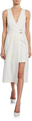 Sally LaPointe Sleeveless Layered Wrap Dress