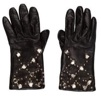 Diane von Furstenberg Leather Studded Gloves