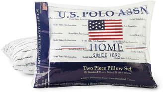 U.S. Polo Assn. USPA Script Medium Density Pillow