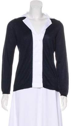 Amina Rubinacci Silk & Linen-Blend Button-Up Top