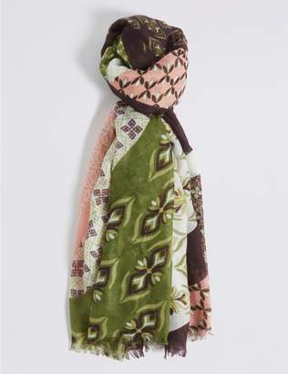 Marks and Spencer Printed Patchwork Scarf