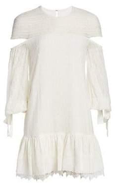 Jonathan Simkhai Embroidered Silk Dress