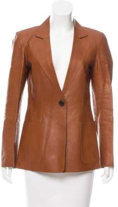 Derek Lam Notch-Lapel Leather Blazer