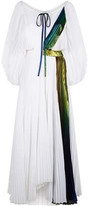 Rainbow Lame Pleated Dress