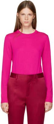 Proenza Schouler Pink Merino Crewneck Pullover