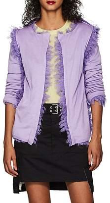 Comme des Garcons Women's Bouclé-Trimmed Wool-Blend Open-Front Cardigan