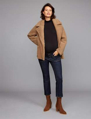 A Pea in the Pod Luxe Essentials Denim Side Panel Chelsea Crop Flare Maternity Jeans