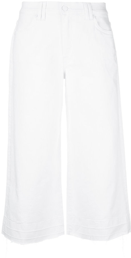 7 For All Mankind wide-leg cropped jeans