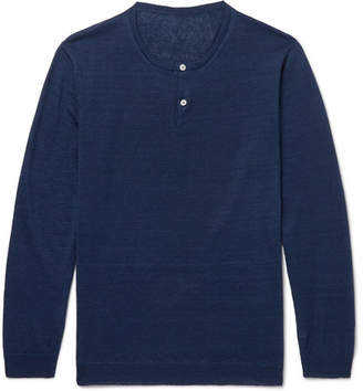 Anderson & Sheppard Linen Henley Sweater