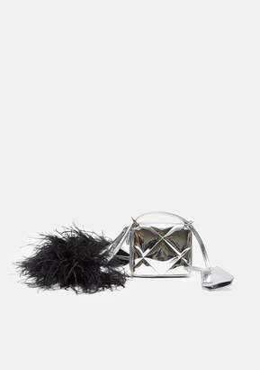 Marques Almeida Marques ' Almeida Feather Wallet Bag Silver