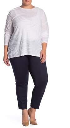 Atelier Luxe Comfort Waist Denim Ponte Pants (Plus Size)