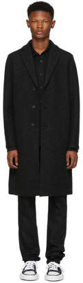Harris Wharf London Grey Boiled Wool Overcoat