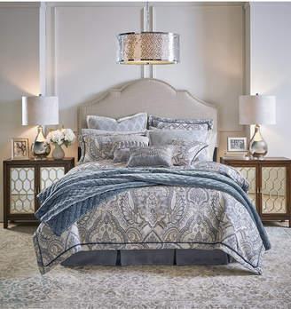 Croscill Seren 4-Pc. Chenille Damask Jacquard California King Comforter Set Bedding