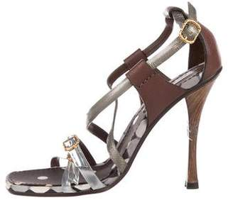 Marc Jacobs Leather Multistrap Sandals