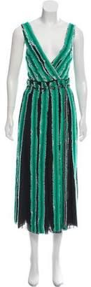 Proenza Schouler Silk Raw-Edge Dress