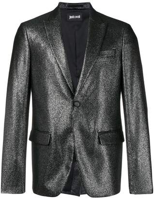 Just Cavalli metallic button blazer