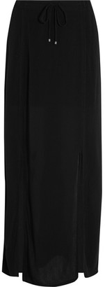 Splendid - Crinkled-gauze Maxi Skirt - Black $130 thestylecure.com