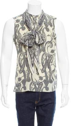 Gucci Paisley Print Silk Shirt