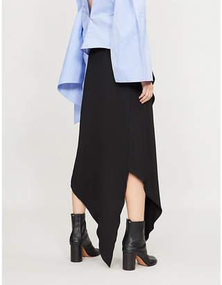 Awake Assymetric cotton wrap skirt
