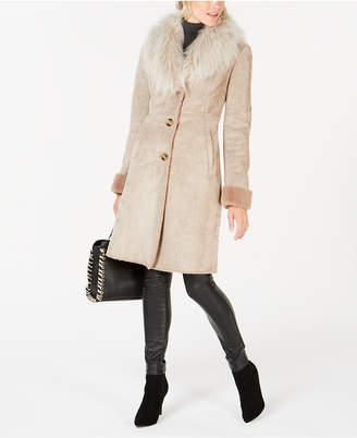 42d5549cffd7 Up To 20% Off  SHOP at Macy s · Via Spiga Faux-Fur-Trim Coat