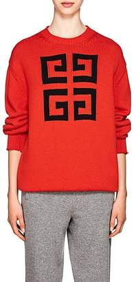 Givenchy Women's 4G-Logo Cotton Sweater - Red