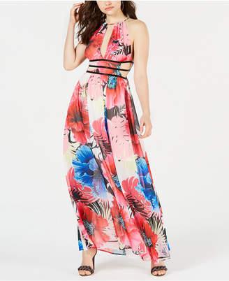 2869eacc102 GUESS Vivienne Printed Cutout Maxi Dress