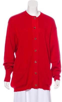 Salvatore Ferragamo Long Sleeve Knit Cardigan