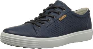 Ecco Shoes Men's Soft 7 Perf Lace Low Fashion Sneakers