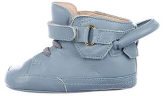 Buscemi Boys' Leather High-Top Sneakers blue Boys' Leather High-Top Sneakers