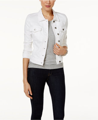 Kut from the Kloth Optic White Wash Denim Jacket $79 thestylecure.com