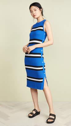 Autumn Cashmere Stripe Rib Midi Dress