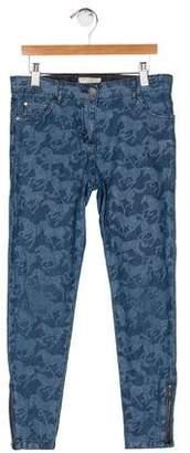 Stella McCartney Girls' Horse Print Skinny Jeans