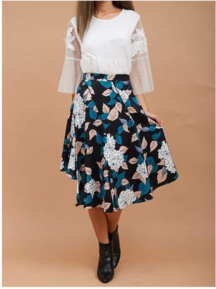 Million Carats (ミリオン カラッツ) - Million Carats noranoel retro flowerアシンメトリー花柄スカート[DRESS/ドレス]