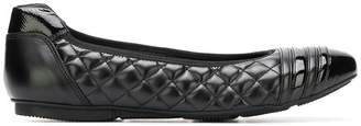 Hogan wrap quilted ballerinas