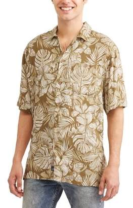 Caribbean Joe Printed Rayon Short Sleeve Shirt