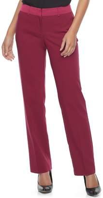 Apt. 9 Women's Torie Satin Waistband Curvy Straight-Leg Dress Pants