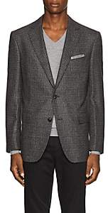 Pal Zileri MEN'S CHECKED WOOL TWO-BUTTON SPORTCOAT - GRAY SIZE 40 R