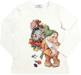 MonnaLisa Bashful Printed Cotton Jersey T-Shirt