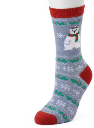 Women's Polar Bear Slipper Socks