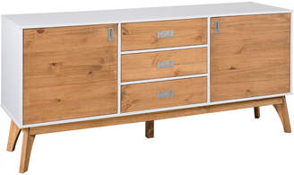 Mid-Century MODERN Manhattan Comfort Rustic 3-Drawer Jackie Sideboard