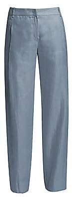 Emporio Armani Women's Straight-Leg Linen Pants